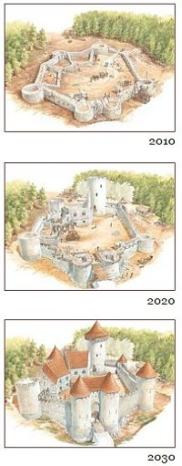 A castle in progress (projected). - IMAGE SOURCE