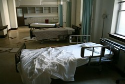 The post-apocalyptic world of Forest Park Hospital. - NICK ZULAUF
