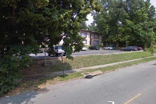 The 3700 block of Delor, where a 28-year-old man was shot several times last night.