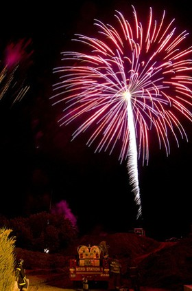 In Alton, they shoot fireworks at the firefighters. - IMAGE SOURCE