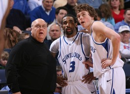 Rick Majerus and Kyle Cassity are not looking forward to a season without Kwamain Mitchell - PHOTO BY KEEGAN HAMILTON