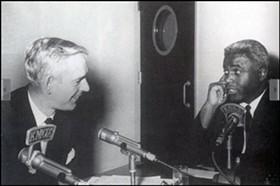 Jack Buck interviews Jackie Robinson
