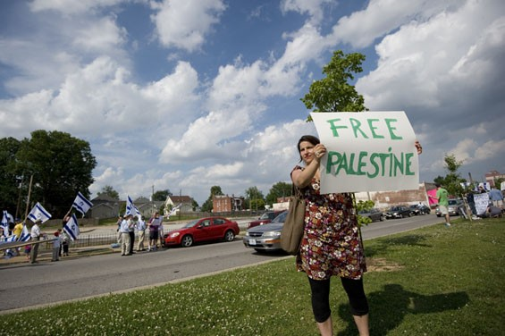 """""""Culturally, I want to stand up for oppressed people. I've grown up around the Arab culture and Arab friends and feel I have to do something,"""" says Lili Noel. """"And I'm here because Israel violated international law."""""""