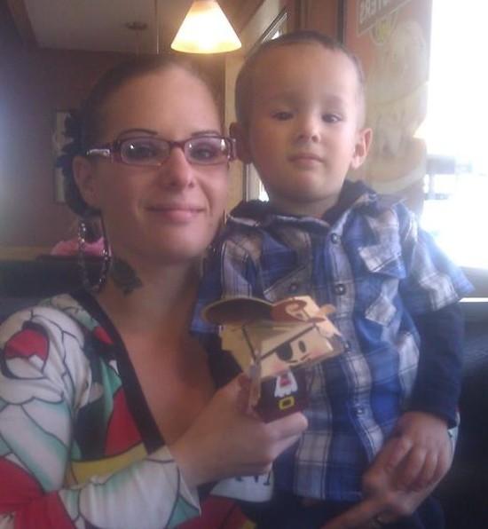 Carla with her son. - VIA FACEBOOK