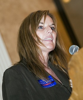 Steelman on the campaign trail in 2008. - JENNIFER SILVERBERG