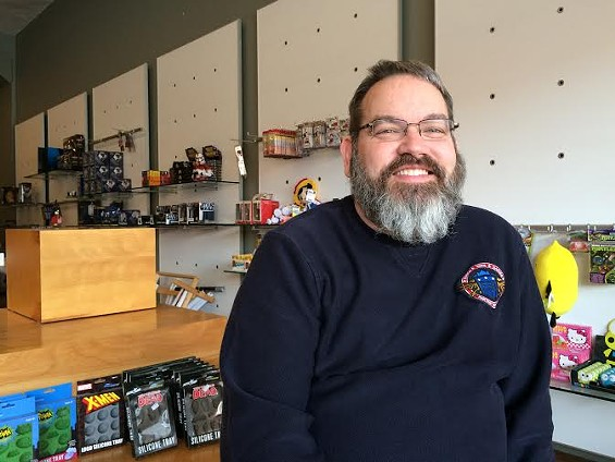 Steve Unverferth started working at a comics shop in Belleville, Illinois, in 1996. Now, he and his partner own Star Clipper. - LINDSAY TOLER