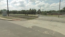 The tracks at the intersection of Leffingwell and Scott avenues.