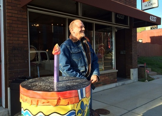 Jim Goebel, a volunteer, outside the LGBT Center's location on Manchester Avenue. - LINDSAY TOLER