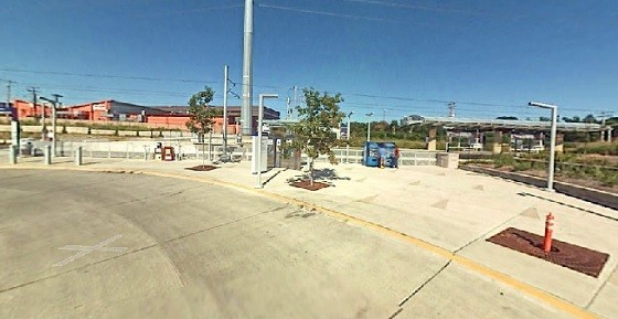 The Richmond Heights' MetroLink station where commuters turned a deaf ear to a deaf man's screams. - GOOGLE MAPS