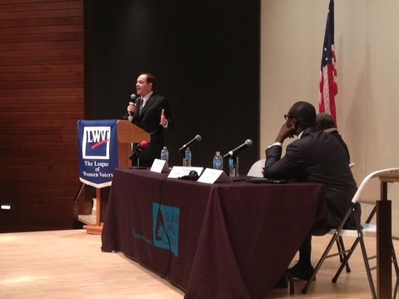 Mayor Francis Slay delivers his closing remarks. - SAM LEVIN