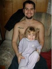 Eddie Runyon with his daughter, Amanda.