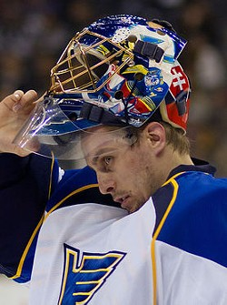 Halak, giving the Oilers -- and Brian Elliott's new contract -- his thousand-yard, killer stare.
