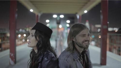 Nathan Sutton (R) and his wife Elisha Skorman in their feature film, Autumn Wanderer. - NATHAN SUTTON