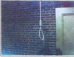 An image of the noose as captured on Hill's cell phone.