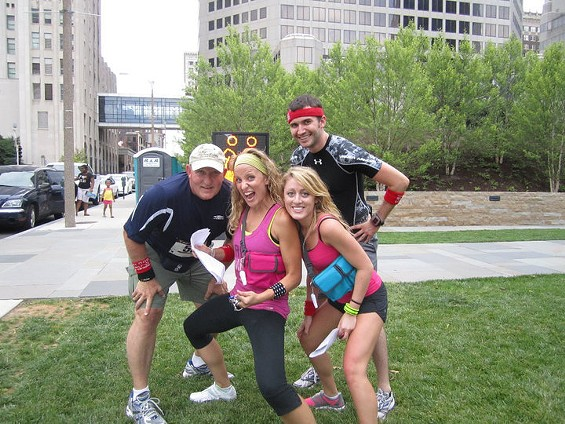 Urban racers at the Twilight Town Trek race in St. Louis last year. Don't they look like they're having fun? - COURTESY OF TWILIGHT TOWN TREKS