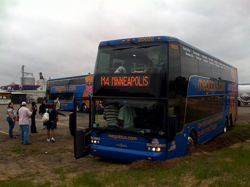 Just make sure your Megabus trip doesn't end in quicksand as this one between Chicago and Minneapolis apparently did. - IMAGE VIA