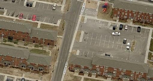 1200 block of St. Ange Avenue, located three blocks east of Lafayette Park