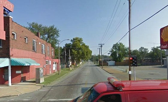 The incident occured in the 3800 block of Marcus near its intersection with Natural Bridge Avenue (above).