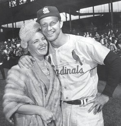 Stan Musial and his wife Lil in 1958. - COURTESY OF THE CARDINALS