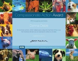 PETA loves Donna Oelze!