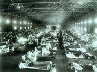 Kansas patients infected during the 1918 pandemic.