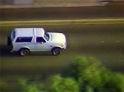 If only a white Bronco were involved in both cases.