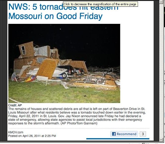 """At these they spelled """"tornado"""" properly."""
