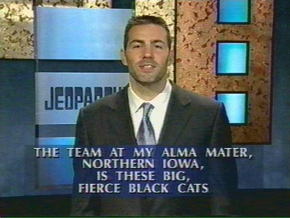 Kurt was a proud Panther on Jeopardy - IMAGE VIA