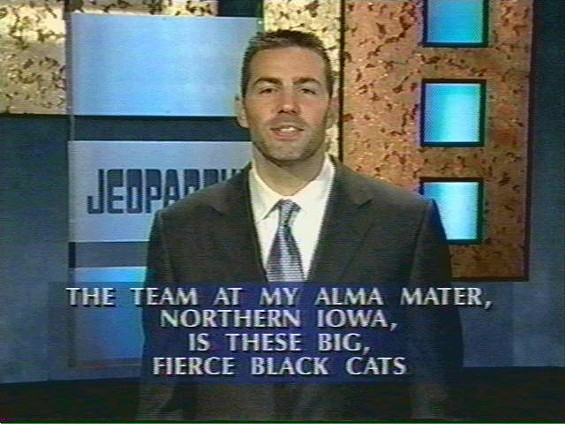 Kurt was a proud Panther on Jeopardy - IMAGE VIA