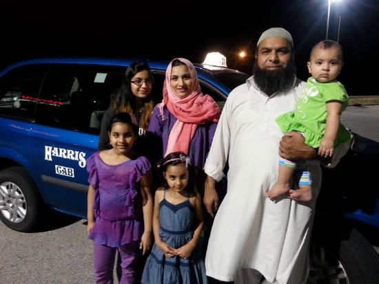 Raja Naeem with his wife and four children. - COURTESY OF RAJA NAEEM