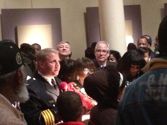 Police Chief Sam Dotson speaking at a recent MLK event. - SAM LEVIN