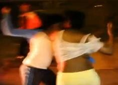 The fight didn't end well for the girl in yellow pants.