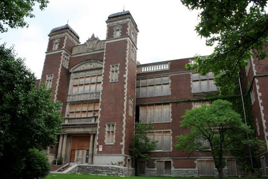 Central High School, at the corner of Garrison and Natural Bridge. - EXCEPT AS INDICATED, ALL PHOTOS BY CHRIS NAFFZIGER