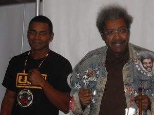 Coyne's opponent, Marcus Oliveira, and Don King. - MARCUS OLIVEIRA FACEBOOK