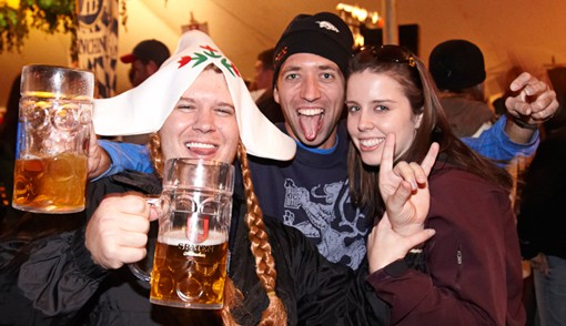 There are two (2) beer steins in this photo. How many more can there be!? - PHOTO: STEVE TRUESDELL