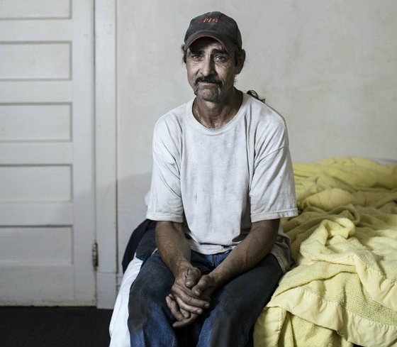 Robert Cook, a resident at the Mark Twain, in his room. He was released from prison in 2012 and now works as a warehouse manager. - JENNIFER SILVERBERG