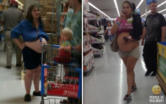 Sexy almost-mamas. At Walmart.