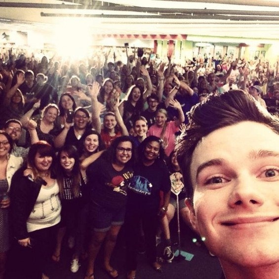 Smile, St. Louis -- you're on Chris Colfer's candid camera. - @CHRISCOLFER | TWITTER