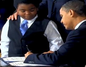 Obama signs health care reform today in the presence of, Gary Coleman??? - CNN.COM