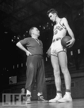 Ed Macauley with his SLU coach, Ed Hickey. - IMAGE VIA