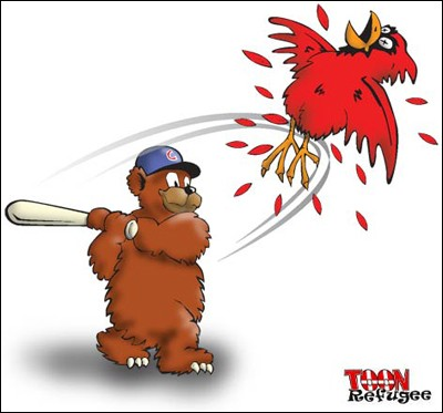 Though just plain terrible in design, this illustration (thanks, Google!) summarizes the weekend's three-game series.