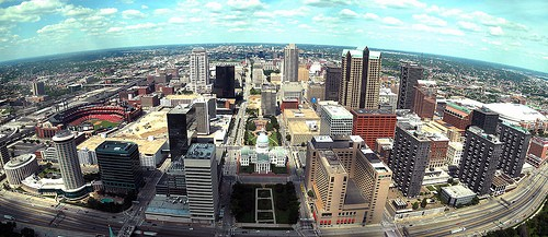 The view of St. Louis' Downtown from the top of the Arch - DANIEL RAMIREZ, FLICKR