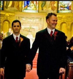 Alan Ziegler and LeRoy Fitzwater married in California in 2008. - COURTESY TOMMY WU