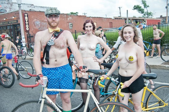 This is what happens when you bring the cast of Downtown Abbey to the World Naked Bike Ride. - CAROLINE YOO