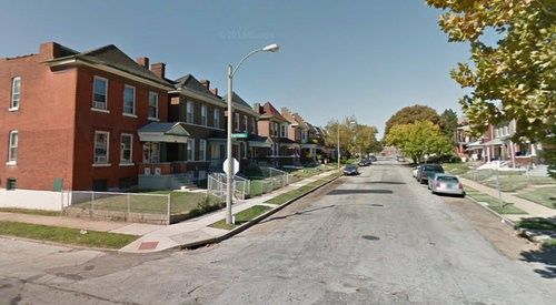 3700 block of Palm Street, where officers shot and injured an armed-robbery suspect. - GOOGLE MAPS
