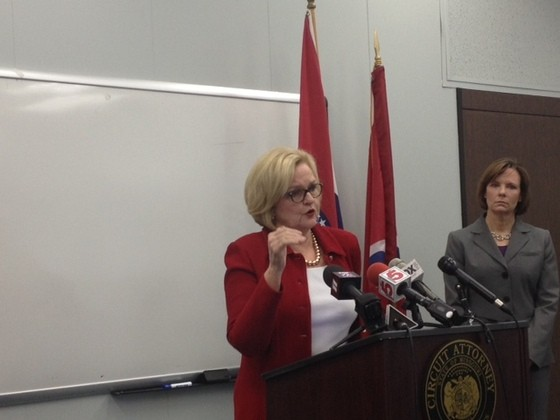 Claire McCaskill promoting VAWA in St. Louis last week. - SAM LEVIN