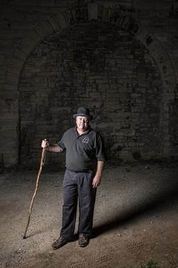 David Riordan, the man behind tours of haunted St. Louis - PHOTOS BY BENJAMIN HOSTE