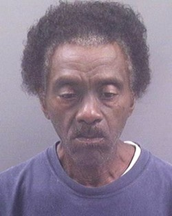Johnnie Pulley after his arrest last July.