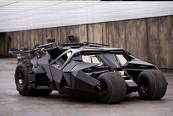 Batman's Tumbler in action.