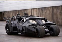 Batman's Tumbler in action.
